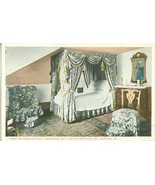 Martha Washington's Bedroom, Mt. Vernon Mansion, VA, 1920s unused Postcard  - $4.99