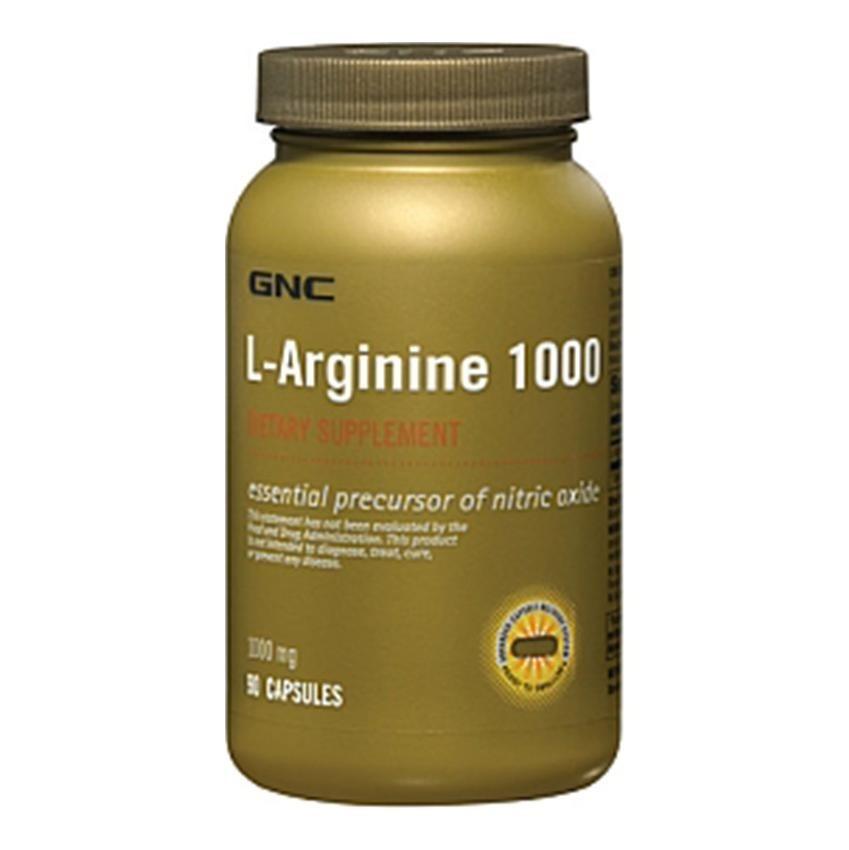 GNC L-Arginine (1000 mg), 90 capsules Unflavoured - Other ...