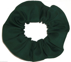 Forest Green  Cotton Fabric Hair Scrunchie Scrunchies by Sherry Handmade... - $6.99
