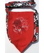 Red Roses & Skulls Horror Design Custom Adjustable Strap Messenger Bag NEW - $29.95