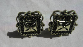 SILVER COLOR CLIP EARRINGS WITH NO WEAR - $9.89