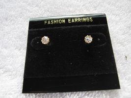 PIERCED CLEAR RHINESTONE SMALL EARRINGS - $9.89