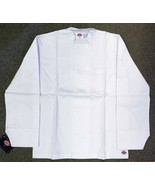 Dickies Chef Coat Jacket 4XL CW070305C Restaurant Button Front White Uni... - $21.53