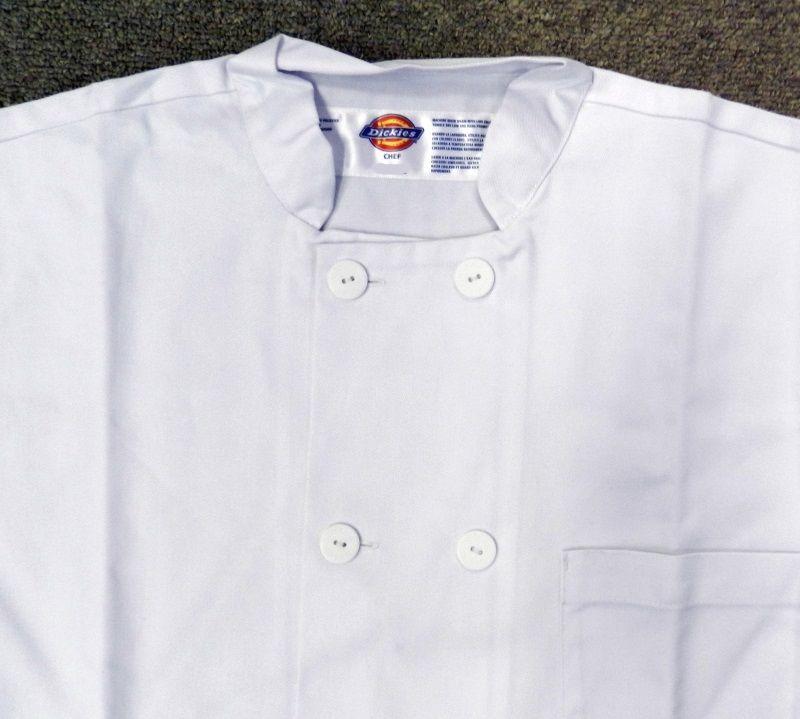 Dickies Chef Coat Jacket 4XL CW070305C Restaurant Button Front White Uniform New