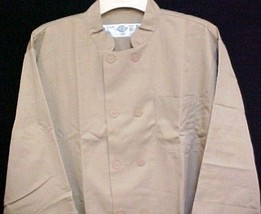 Dickies Chef Coat Tan CW070305 Restaurant Button Front Uniform Jacket 2X... - $39.57