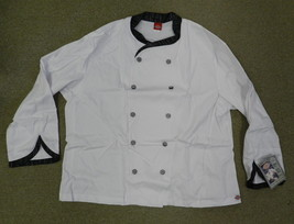 Dickies Executive CW070303BLT Chef Coat Blk White Tweed Trim Checkered B... - $25.45