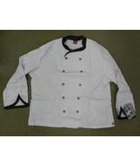 Dickies Executive CW070303BLT Chef Coat Blk White Tweed Trim Checkered B... - $25.45