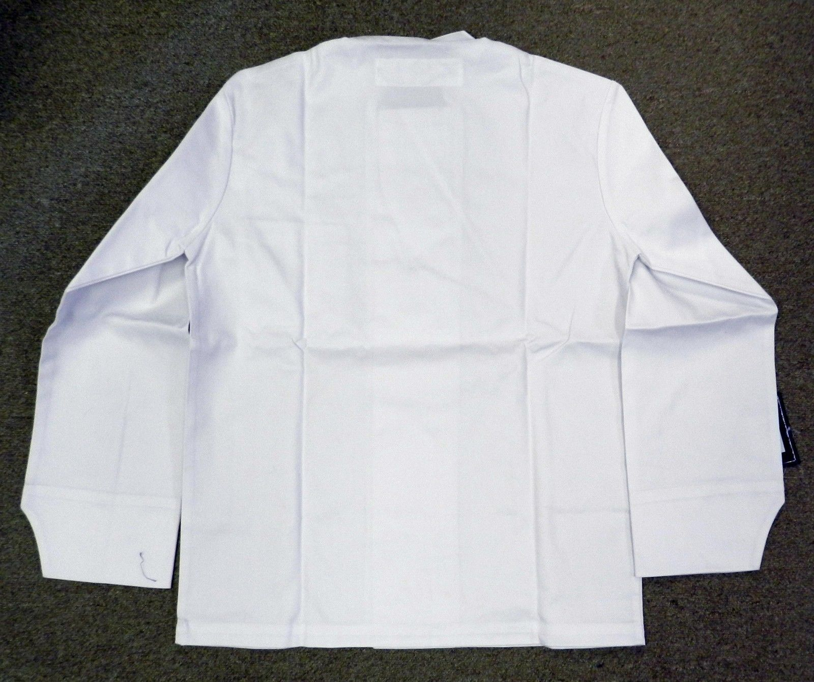 Dickies Chef Coat Jacket CW070305B Restaurant Button Front White Uniform 2X New