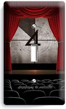 TV ROOM HOME MOVIE THEATER BIG SCREEN SINGLE LIGHT SWITCH WALL PLATE COV... - $8.99