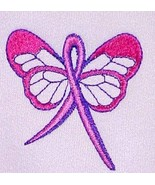 Pink Ribbon Butterfly Sweatshirt 3X Breast Cancer Awareness Crew Neck Bl... - $28.39