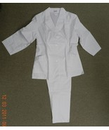 Premier Uniforms Rick Rack Nurse White Scrub Top Pants Set #5553 Size 18... - $24.22