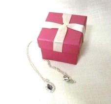 Vintage Chain Necklace Strand Amethyst Teardrop Rhinestones Formal Jewel... - $24.46