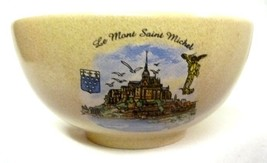 Vintage Le Mont Saint Michel Pottery Chowder Soup Bowl Souvenir Collectible - $39.17