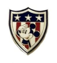 Walt Disney Mickey Americana Saluting Stars Stripes Red White Blue Shiel... - $19.57