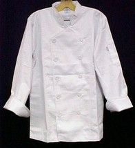 White Chef Coat CIA Culinary Institute America Double Breasted XL Style ... - $39.17