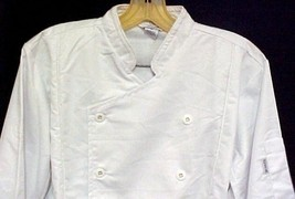 White Chef Coat Jacket CIA Culinary Institute America 3X New Style 9601 - $39.57