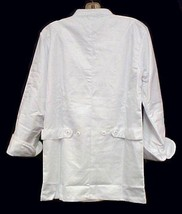 White Chef Coat Jacket CIA Culinary Institute America 3X New Style 9601 image 3
