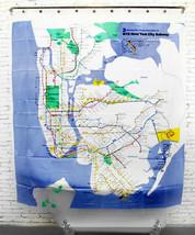 Shower Curtain Peva New York Mta New York City Subway Map Design 180 X 180 Cm - $29.99