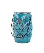 Blue Owl Stoneware Lantern - $25.00