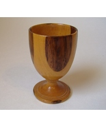 Wood Inlay Egg Cup Vintage Signed DJ Numbered 32/325 Footed Collectible  - $35.00