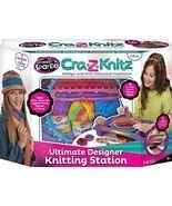 Craft Knitting Station - Lap Desk - Includes 2 Looms - Scarves Hats - Ya... - $48.35