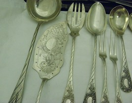 Sheffield Flatware Place for 6 Germany 800 Silver 44pc Total Antique  - $3,827.33