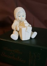 Dept 56 Snowbabies 1993 CAN I OPEN IT NOW #68381 Snowbaby With Package L... - $8.00
