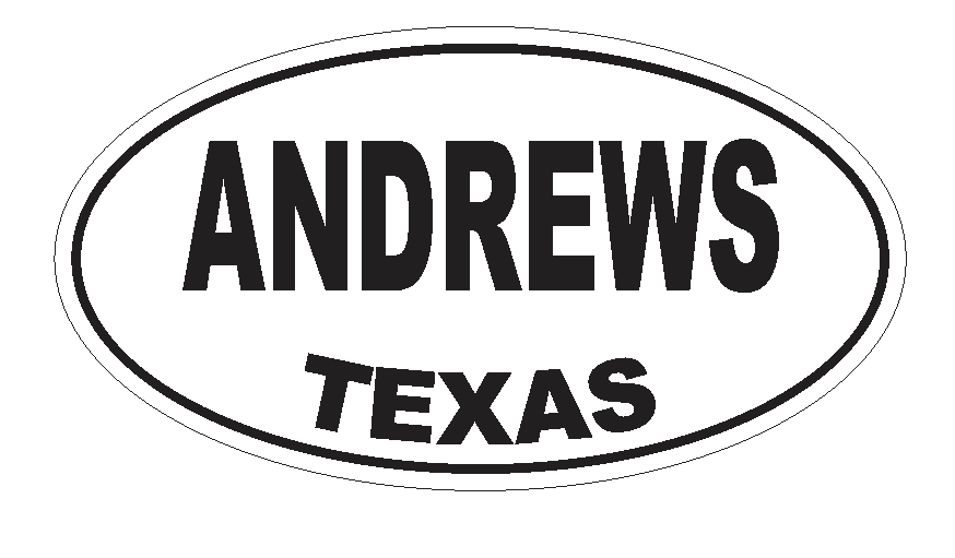 Primary image for Andrews Texas Oval Bumper Sticker or Helmet Sticker D3135 Euro Oval