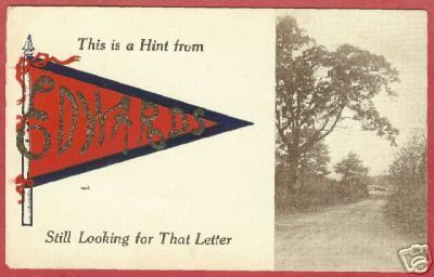Edwards MI Pennant Upper Peninsula 1912 Postcard BJs