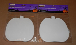 "Halloween Paper Pumpkin Shapes 24pc By Creatology 4+ 6"" x 6"" White 43U - $6.92"