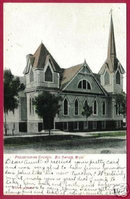 BIG RAPIDS MICHIGAN Presbyterian Church UDB 1908 MI