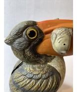 """CERAMIC PELICAN With Fish In His Beak Bank 5.5"""" tall - $19.75"""