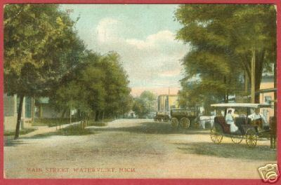 Watervliet MI Postcard Main Street Michigan BJs