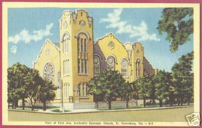 Primary image for ST PETERSBURG FLORIDA M E Church First Ave Linen FL