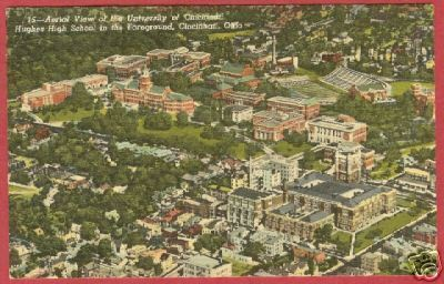 Cincinnati OH University Hughes High Postcard BJs