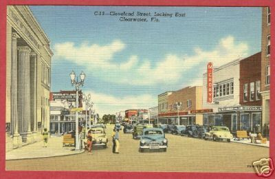 Primary image for Clearwater FL Cleveland St Cars McCrorys Postcard BJs