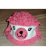 Pink and White Poodle Dog Hat for Children - Animal Hats - Small - $16.00