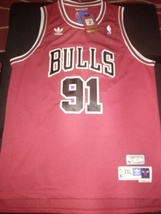 RED Quality Dennis Rodman retro Hardwood Classic #91 Chicago Bulls New w... - $179.95