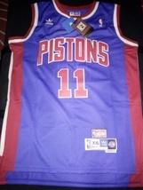 Blue Isaiah Thomas Retro Detroit Pistons Jersey Hardwood Classic With Ta... - $179.95