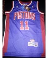 Blue Isaiah Thomas Retro Detroit Pistons Jersey Hardwood Classic With Ta... - $22.95