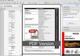 Mazda Protege 5 2002   2003 Ultimate Factory Service Repair Workshop Oem Manual - $14.95