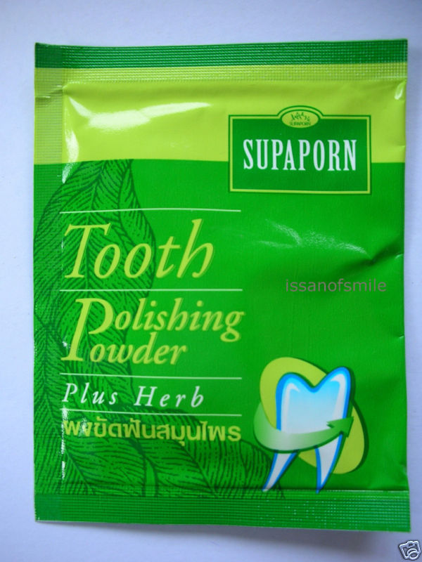 Supaporn Tooth Powder Polishing Plus Herb Healthy teethSupaporn Tooth Powder Pol