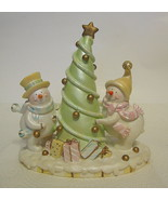 Snowman Couple Christmas Tree Figurine - $35.63