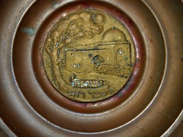 Israel Vintage Oppenheim Copper Plate Tray Rachel's Tomb Wall Hang Signed image 2