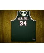 Authentic Reebok Milwaukee Bucks Ray Allen 34 - Green/Red/White Retro Je... - $249.99