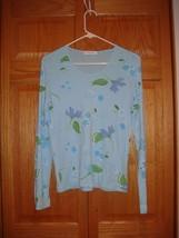 Fresh Produce Top L Lite Blue Floral Soft Sheen - $17.99