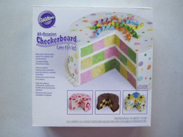 Wilton All Occasion Checkerboard Cake Pan Set 3 Pans 9 in Dia 1.5 in H 2... - $21.03