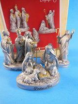 "HALLMARK Keepsake Ornament ""That Holy Night"" Set of 3 handcrafted 2004 - $12.61"