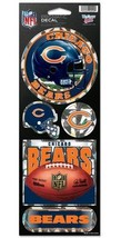 CHICAGO BEARS PRISMATIC HOLOGRAPH STICKER DECAL SHEET OF 5 NFL FOOTBALL - $5.81