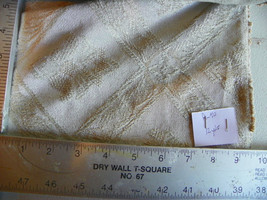 Tan Beige Diamond Print Stripe Chenille Fabric / Upholstery Fabric  1 Yard  R40 - $29.95
